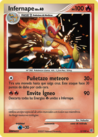 Carta de Infernape.