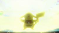 Pikachu enmascarada usando rayo.