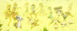 Rayo del Pikachu de Ash.