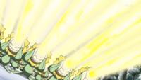 Sunflora usando rayo solar
