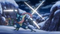 Greninja de Ash usando corte.