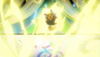 Pikachu roquero usando rayo.