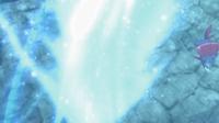 Weavile de Kagetomo usando viento hielo.