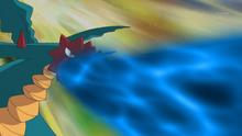 Druddigon usando furia dragón.