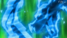 Axew usando Furia dragón.