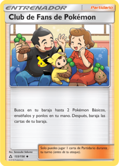 Carta Club de Fans de Pokémon