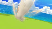 Eevee usando ataque arena