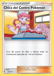 Chica del Centro Pokémon (Destinos Ocultos TCG).png