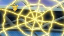 Pikachu usando electrotela