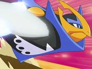 Empoleon usando ala de acero.