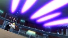 Mega-Alakazam usando Psicocorte.