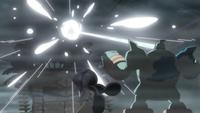 Golurk usando foco resplandor.