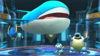 Clawitzer, Wailord, Piplup y Blastoise SSB4 Wii U.png