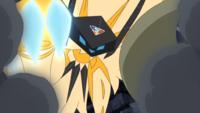 Necrozma melena crepuscular usando garra metal.