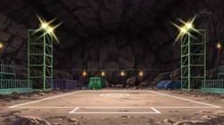 Campo de batalla del Gimnasio de Ciudad Fayenza en el anime