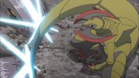 Haxorus de Lirio usando cola dragón.