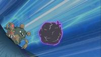 Garbordor usando Lanzamugre para controlar al Dragonite de Iris