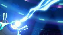 Blastoise usando rayo hielo