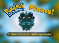 """""""El vaparazón de este Pokémon es más grueso con corteza de árbol""""."""
