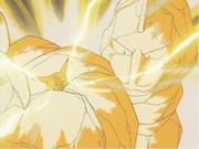 Pikachu de Ash usando impactrueno.
