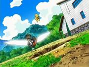 EP535 Pikachu esquivando a Staraptor.png