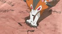 Lycanroc usando roca afilada.