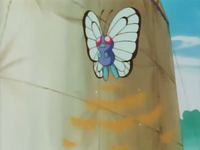 Butterfree usando paralizador.