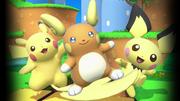 Raichu de Alola, Pikachu y Pichu en SSBU.png