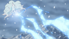 Ninetales usando rayo hielo