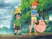 EP411 Misty, Max, Azurill, Pikachu y Cleffa.jpg