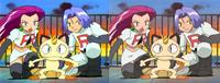 Comparación entre la versión japonesa (izquierda) y versión inglesa (derecha).