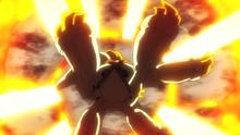 ...para rodear al Mega-Metagross de Steven/Máximo de fuego...