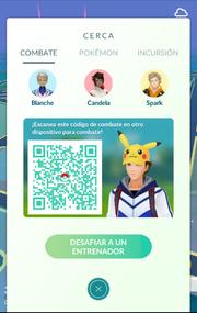 Opción Combate dentro de función Cerca en Pokémon GO.png