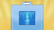 Piscina del panel azul.