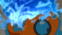 RotomDex usando hidrobomba.