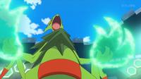 Mega-Sceptile de Sawyer/Sabino usando garra dragón.