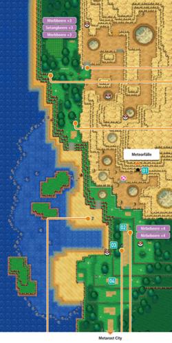 Mapa de la ruta 115