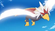 Braviary usando ala de acero