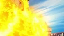 Pyroar usando Lanzallamas