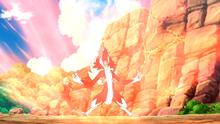 Lycanroc nocturno de Gladion/Gladio usando enfado.