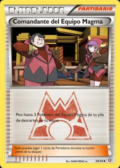 Carta Comandante del Equipo Magma