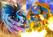 Ilustración de Mega-Charizard X y Mega-Charizard Y.png
