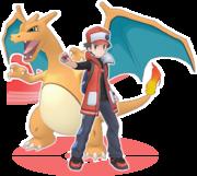 Rojo y Charizard Pokémon Masters.png