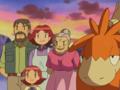 Familia Winstrate junto a sus Pokémon.