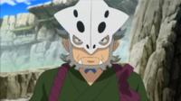 Heidayu con su máscara de Lairon.