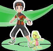 Bruno y Treecko Pokémon Masters.png