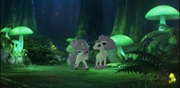 Archivo:Ponyta de Galar con crin luminosa en el Bosque Lumirinto durante el directo.webm