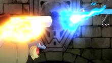 Mega-Blastoise usando puño incremento.