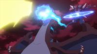 Pikachu usando rayo (izquierda).