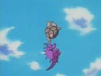 Golem usando movimiento sísmico.